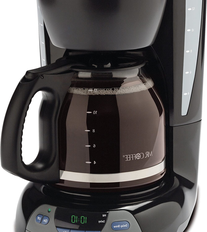 Mr. Coffee Simple Brew 12-Cup Coffee Maker, Black