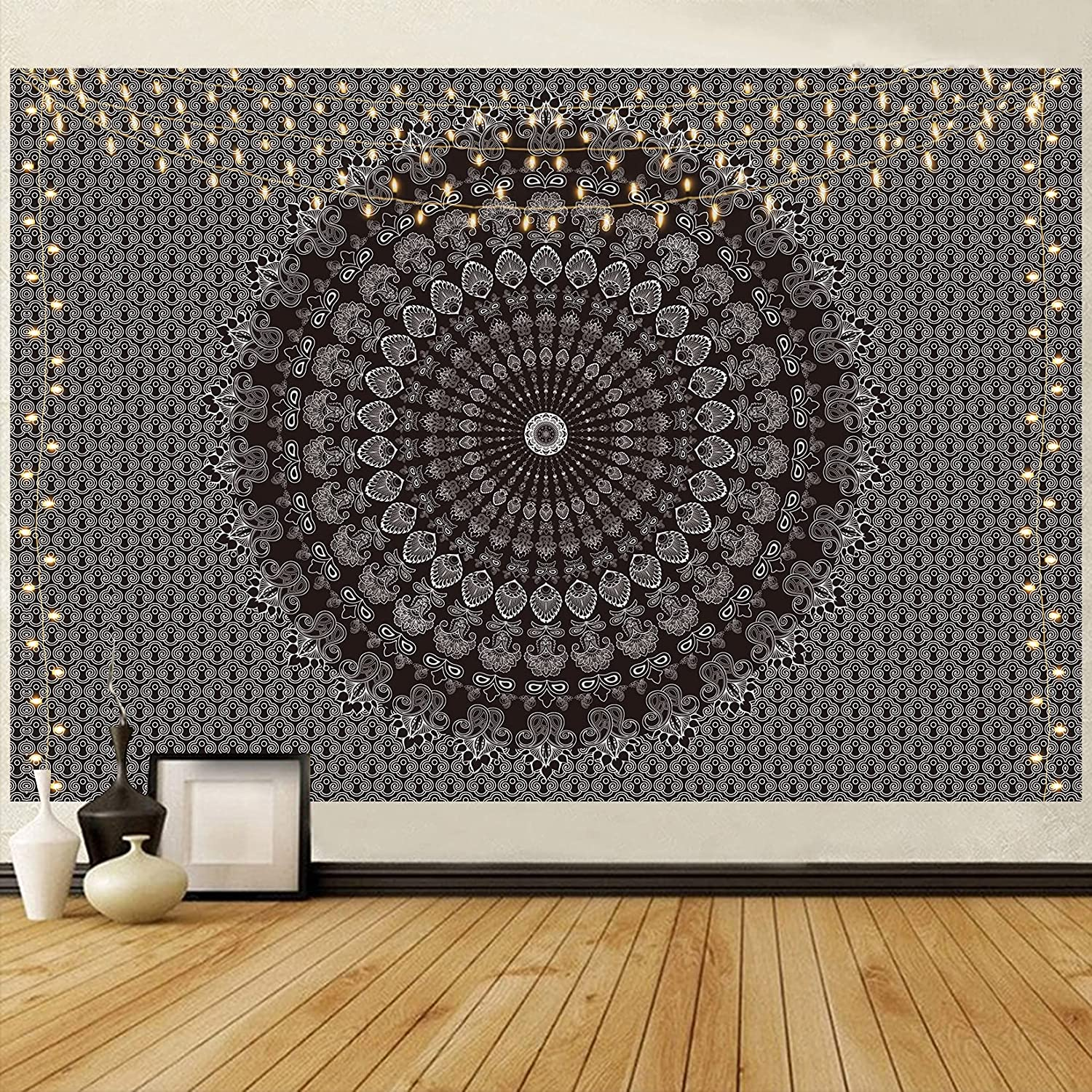 HOTMIR Wall Tapestry - Hippie Tapes Psychedelic Regular Over item handling ☆ discount Mandala