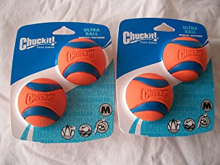 Four (4) Chuckit Medium Ultra Balls