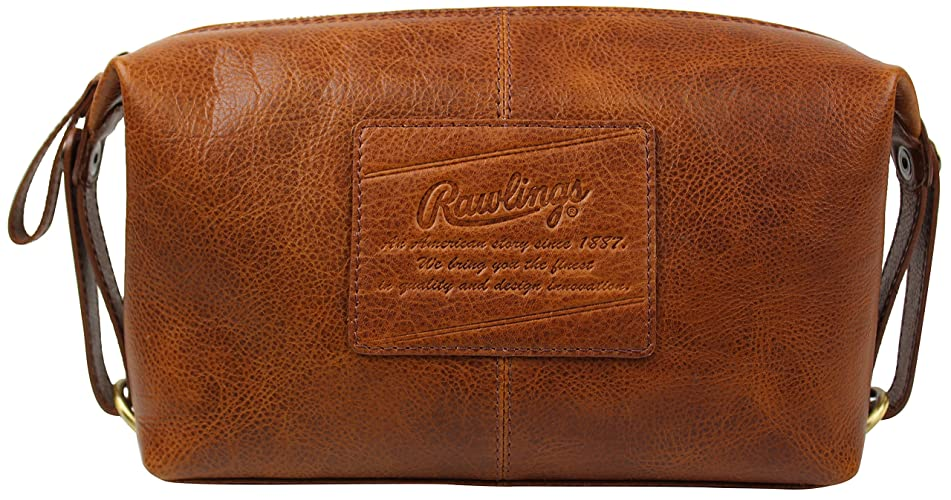 Rawlings Men's Leather Travel Kit, Brown