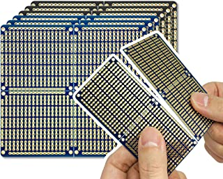 ElectroCookie PCB Prototype Board, Snappable Strip Board with Power Rails for Arduino and DIY Electronics, Gold-Plated, 3....