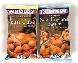 Krisppe Clam Cake and New England Batter Bundle One 10 ounce each