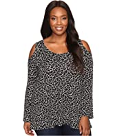 Karen Kane Plus - Plus Size Cold Shoulder Top