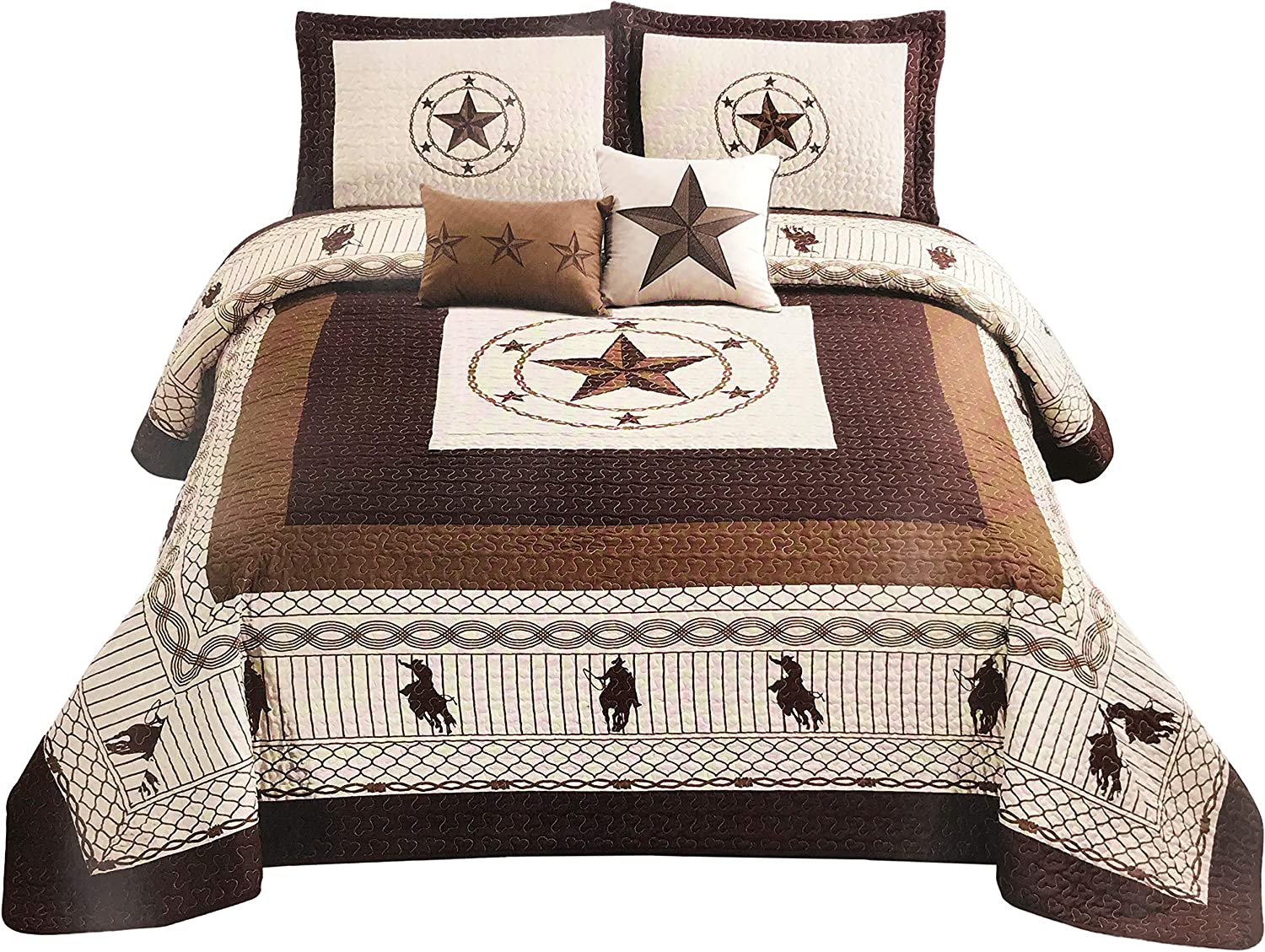 Save money Western Collection New 5 Pieces Spasm price Stars Horses and Cowboy