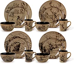 Mossy Oak 16-Piece Break-Up Infinity Dinnerware Set, Service for 4