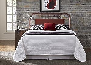 Liberty Furniture Industries Vintage Series Bedroom Queen Metal Headboard, Red