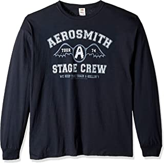 Liquid Blue Aerosmith Stage Crew 1974 Long Sleeve Graphic Tee