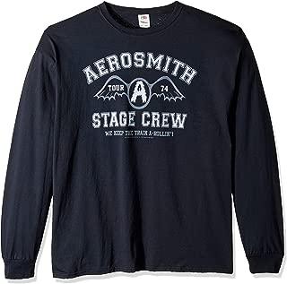 """تي شيرت بأكمام طويلة مطبوع عليه عبارة """"Stage Crew 1974 من Liquid Blue Aerosmith"""