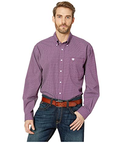 Cinch Long Sleeve Print (Purple) Men