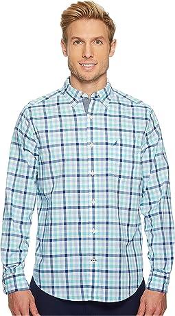 Nautica Long Sleeve Tattersall Woven Shirt