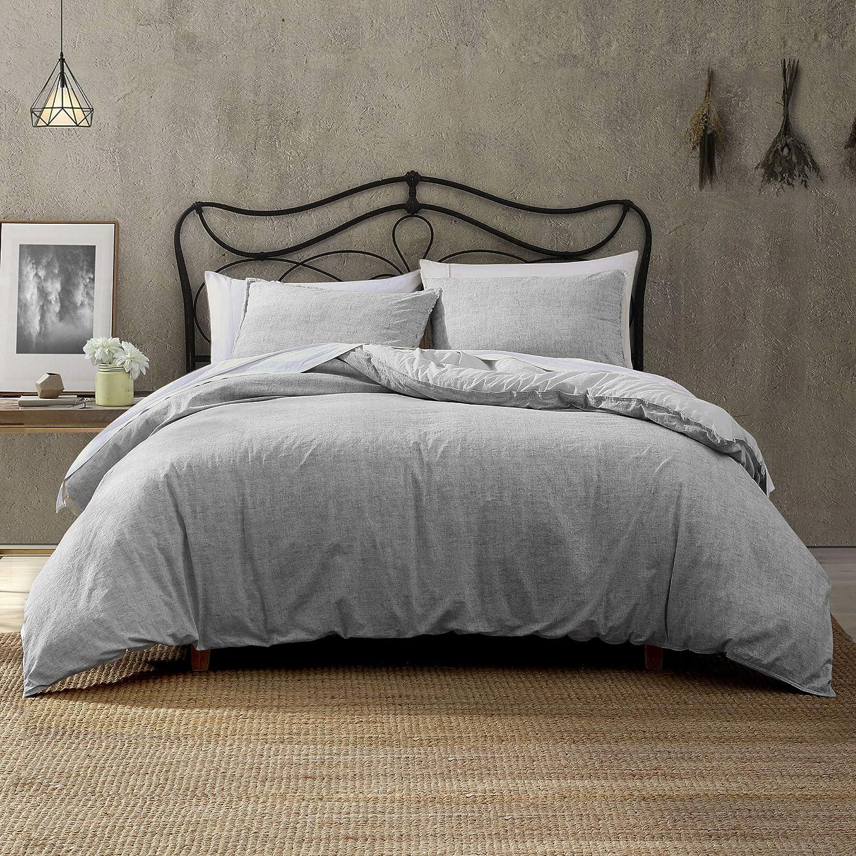 Brielle Max 57% OFF Callan Ranking TOP5 100% Cotton Texture Grey Comforter Printed Set