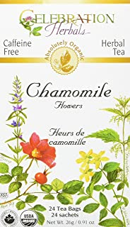 CELEBRATION HERBALS Chamomile Flowers Tea Organic 24 Bag, 0.02 Pound