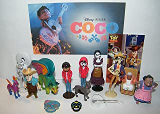 B. B. Inc Disney Coco Movie Deluxe Party Favors Goody Bag Fillers Set of 15 with Figures, Tattoo, Sticker and Charm Featuring Miquel, Spirit Gude Pepita, Papa Julio and More!