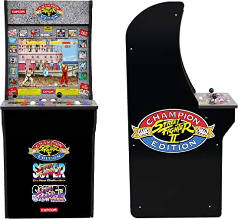 Arcade1Up 4 Feet Street Fighter Classic 3-in-1 Home Arcade