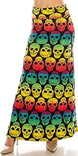 Women's Printed Foldover Waistband Fashionable Maxi Skirt Dress One Size & Plus Size