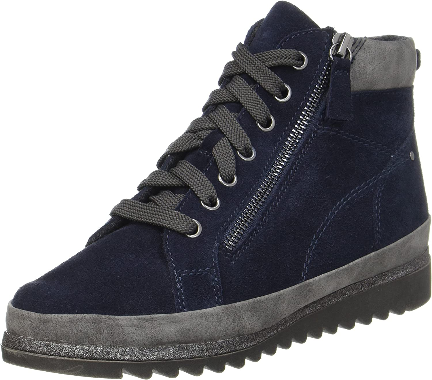 JANA 25207-805 Navy (Suede) Womens Boots