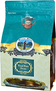 Mystic Monk Coffee: Royal Rum Pecan Whole Bean (Flavored 100% Arabica Coffee) - 32 Ounces