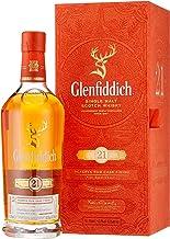 Glenfiddich Single Malt Scotch Whisky Reserva 21 Jahre – besondere Variante des meistverkauften Malt Sctoch Whisky der Welt mit Geschenkverpackung, 1 x 0,7l, 40% Vol.