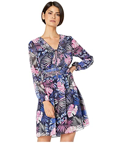Sam Edelman Tropical A-Line Dress (Purple Multi) Women