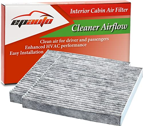 2 Pack - EPAuto CP134 (CF10134) Premium Cabin Air Filter includes Activated Carbon