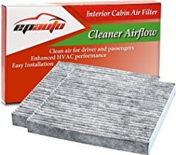 2 Pack - EPAuto CP134 (CF10134) Replacement for Honda & Acura Premium Cabin Air Filter includes Activated Carbon