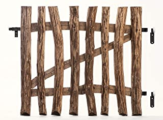 Lattenzauntor Imprägniertes Holz Doppeltor Tür Stabmatten Gartenzaun Tor 2 Stk