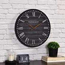 ساعة حائط FirsTime & Co.، باللون الأسود الداكن، مقاس 40.64 × 5.04 × 40.64 سم، من American Crafted