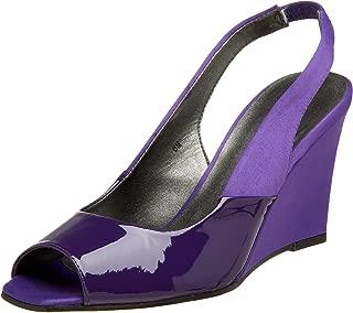 purple wedge dress shoes