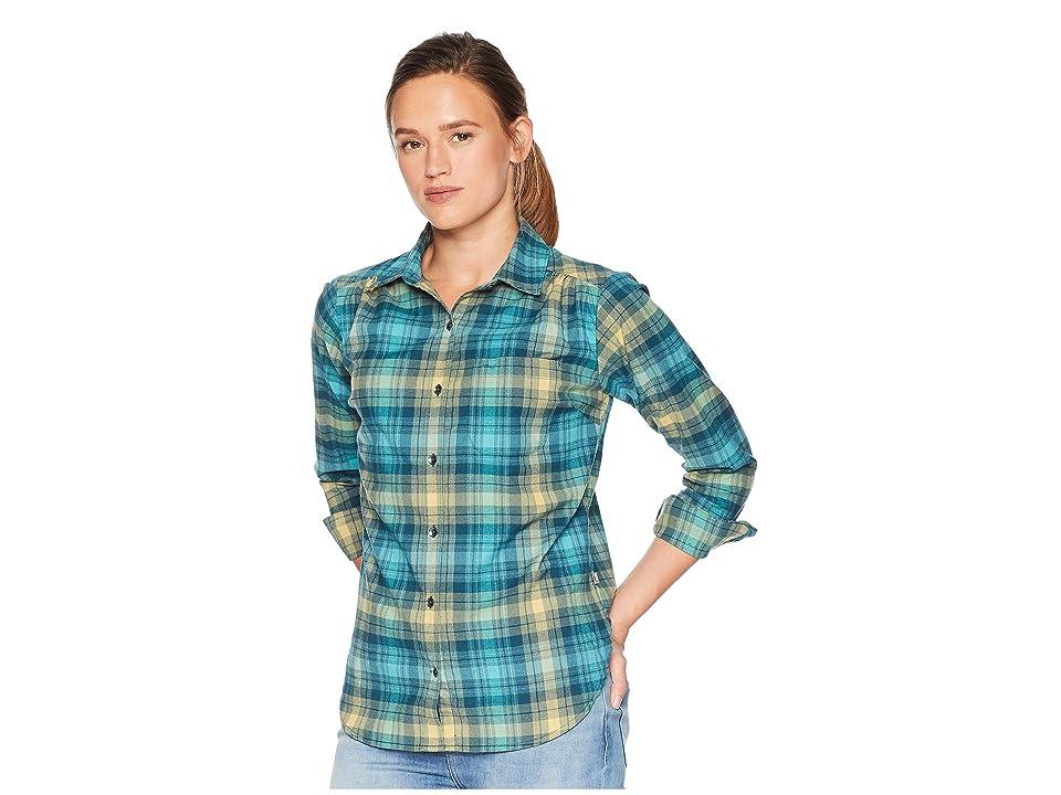 Royal Robbins Merinoluxtm Flannel Long Sleeve (Reflecting Pond) Women