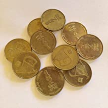 Lot of 10 Israeli Coins, Half 1/2 Shekel Sheqel, Official Currency NIS ILS Collectible Money