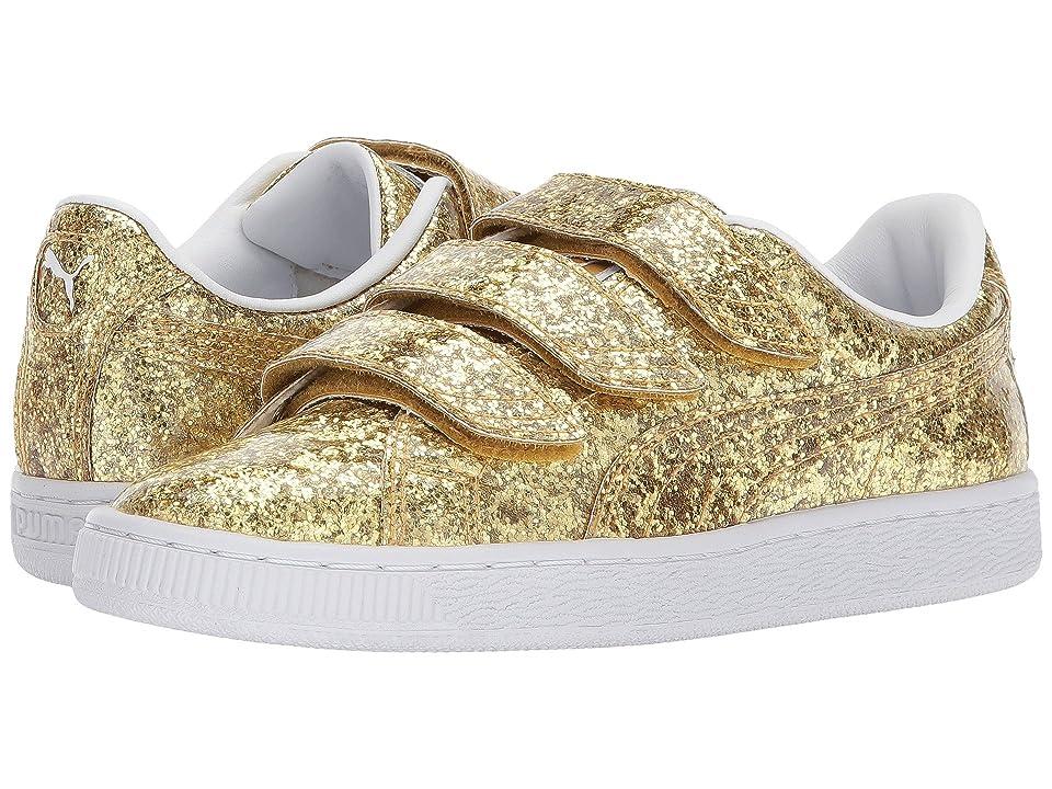 PUMA Basket Strap Glitter (Gold/Gold) Women
