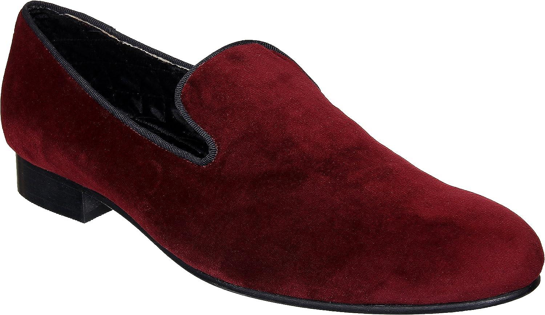 Lozano Maroon Velvet Slip ons Casual shoes Maroon