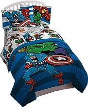 Jay Franco Marvel Comics Avengers Good Guys 4 Piece Twin Bed Set,