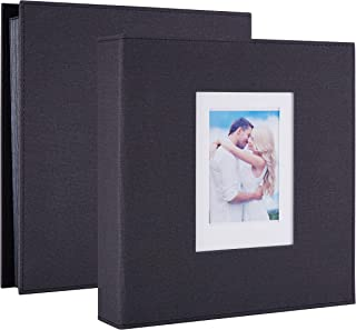 Artmag Photo Album 4x6 1000 Pockets Linen Cloth Extra Large Big Capacity Picture Albums Holds 1000 Horizontal and Vertical Photos for Family Wedding Black