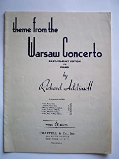 Theme From the Warsaw Concerto Easy-to-Play Edition for Piano
