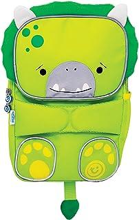Trunki Toddler's Backpack – Hi-Viz Children's Pre School Rucksack - ToddlePak Dudley Dinosaur (Green)