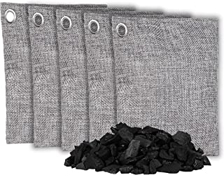 OLIVIA & AIDEN 5 Pack - Large 200g Bags - Activated Bamboo Charcoal All Natural Air Freshener | Eco Friendly Odor Eliminat...