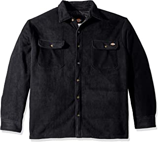dickies Men's Relaxed Fit Micro Fleece Quilted Shirt Jacket