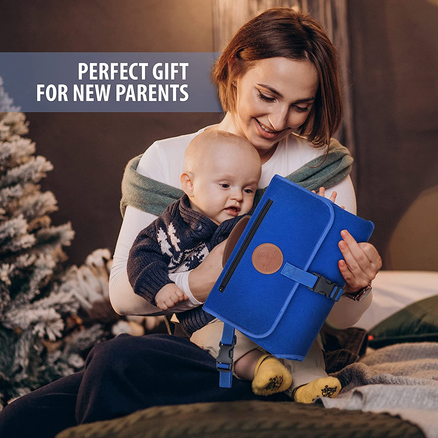 Portable Changing Pad for Baby - Diaper Changing Pad - Waterproof, Foldable and Easy to Clean Travel Changing Pad Mat - Lightweight Diaper Clutch Bag for Parents on The Go.