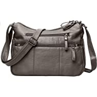 Women Crossbody Bag Pocketbooks Soft PU Leather Purses and Handbags Multi Pocket Shoulder Bag...