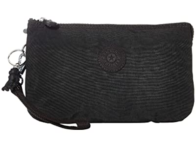 Kipling Creativity XL Printed Pouch (Black Noir) Clutch Handbags