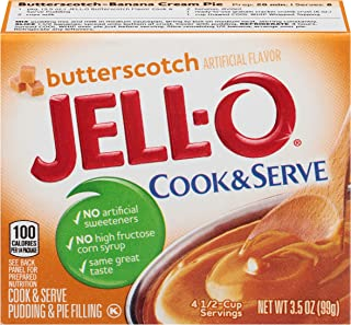 Jell-O Cook and Serve Butterscotch Pudding, 3.5 oz Box (Pack of 6)