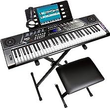 RockJam, 61-Key 61-Key Keyboard SuperKit with Stand, Stool,
