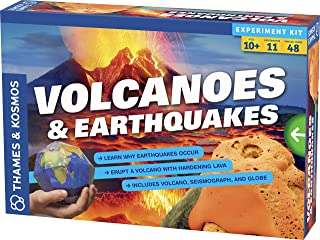 Thames & Kosmos 665081 664081, Learn why Earthquakes Occur, Erupt a Volcano with Hardening Lava, Experiment kit for Ages 10+