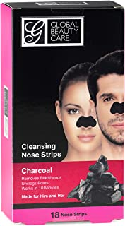 Global Beauty Care 18 Nose Cleansing Strips of Activated Charcoal Nose Strips For Blackheads Removal Charcoal Blackhead Re...