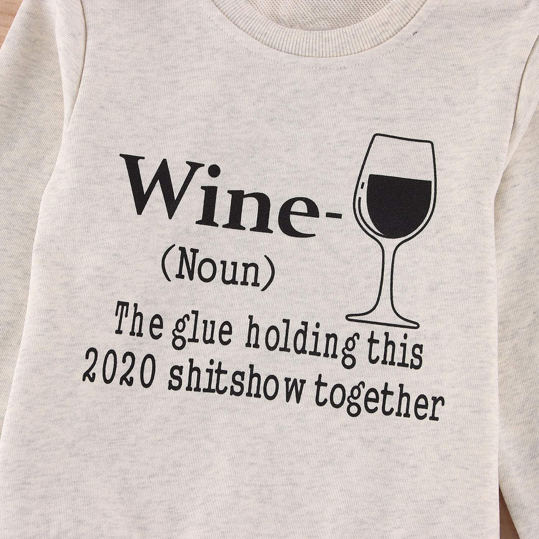Women Long Sleeve Wine Sweatshirt The Glue Holding This 2020 Shitshow Together Sweatshirt Tops