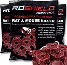 Roshield 900g Wax Block Bait for Rat & Mouse Killer Poison Control (300g x 3 Packs)