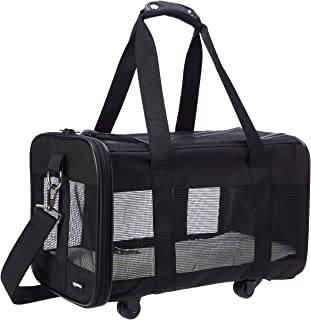 AmazonBasics Soft-Sided Pet Travel Carrier with Wheels