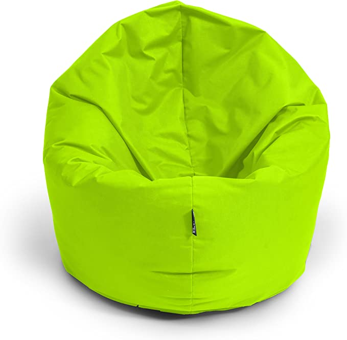 BuBiBag 2-in-1 Beanbag Chair with Filling, Size L - XXL - Can be Used as a Teardrop-Shaped Seat or Floor Cushion - Chair / Armchair / Beanbag Chair