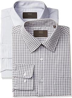 Marks & Spencer Men's Slim fit Formal Shirt (Pack of 2)
